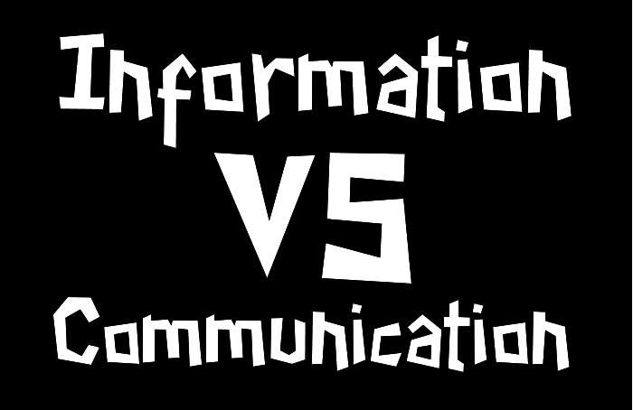 Information vs communication